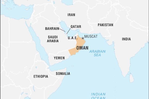 نقشهی عمان- Oman Map In Asian
