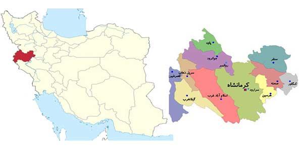 نقشه کرمانشاه kermanshah map