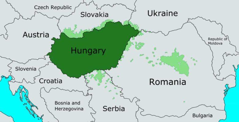 hungary map نقشه مجارستان in europe
